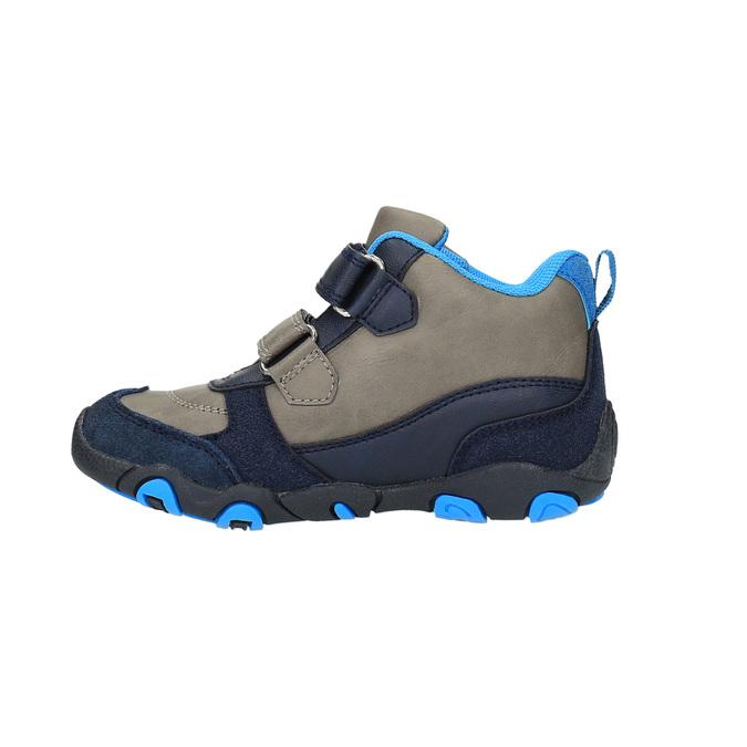 Chlapčenská členková obuv na suchý zips bubblegummer, modrá, 291-2600 - 26