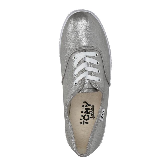 Dámske strieborné tenisky bata, strieborná, 519-1690 - 19