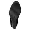 Čižmy na klínovom podpätku s chlpatým lemom bata, čierna, 799-6630 - 26