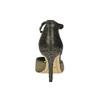 Sandále na ihličkovom podpätku so zlatými odleskami bata, čierna, 729-8630 - 17