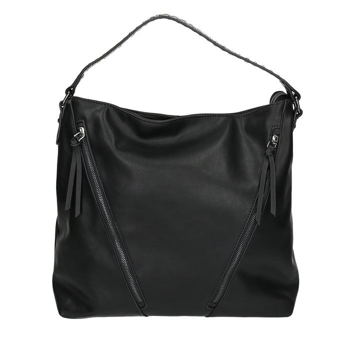 Dámska kabelka so zipsami bata, čierna, 961-6127 - 26