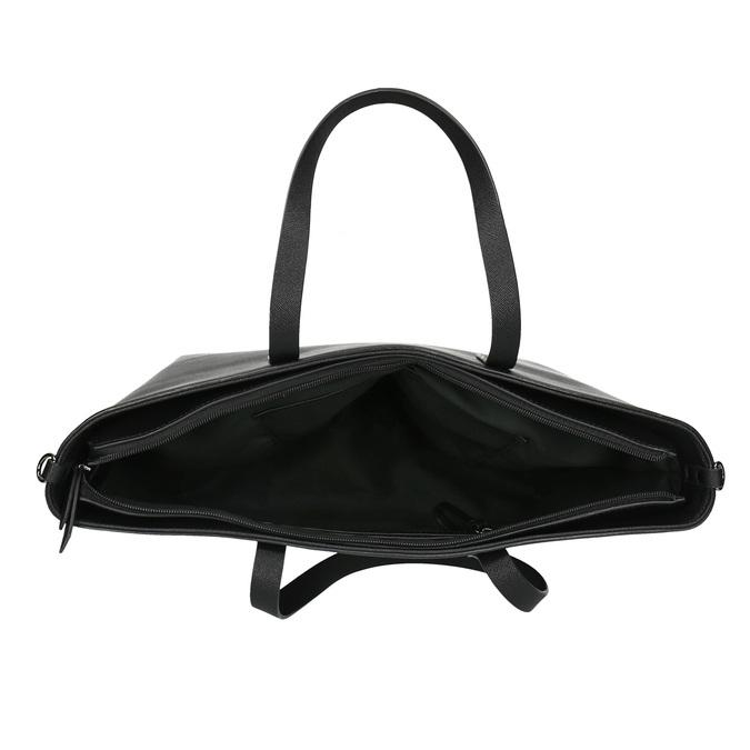 Shopper kabelka s pevným dnom bata, čierna, 961-6647 - 15