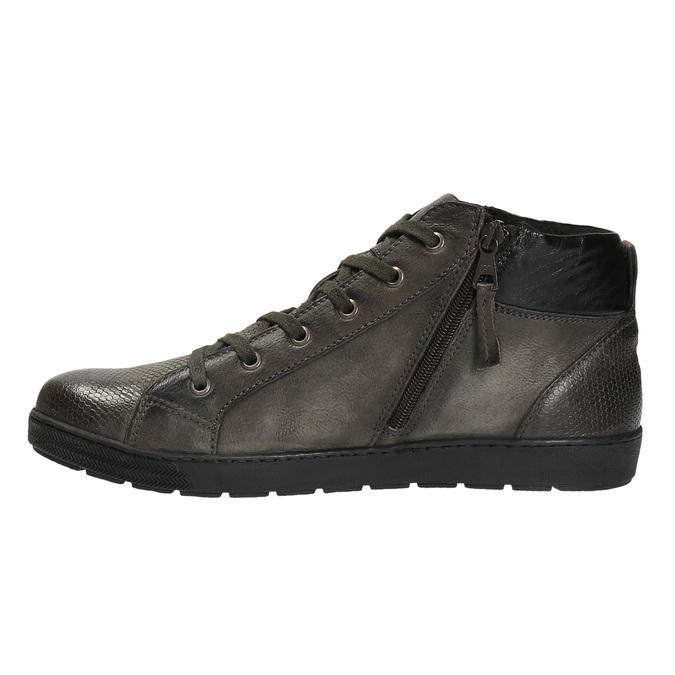 Pánska členková obuv kožená bata, šedá, 846-2602 - 26