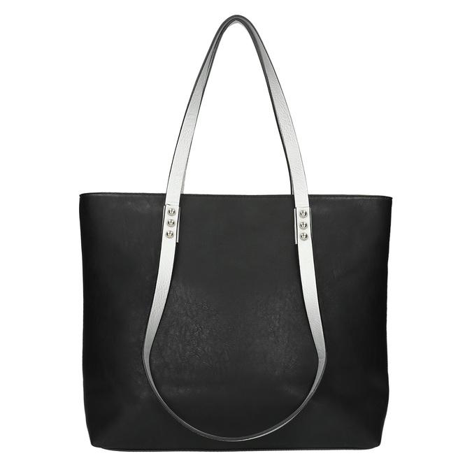 Dámska kabelka s dvojitými rúčkami bata, čierna, 961-6625 - 26