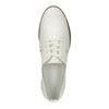 Svetlé kožené poltopánky bata, biela, 526-1613 - 19