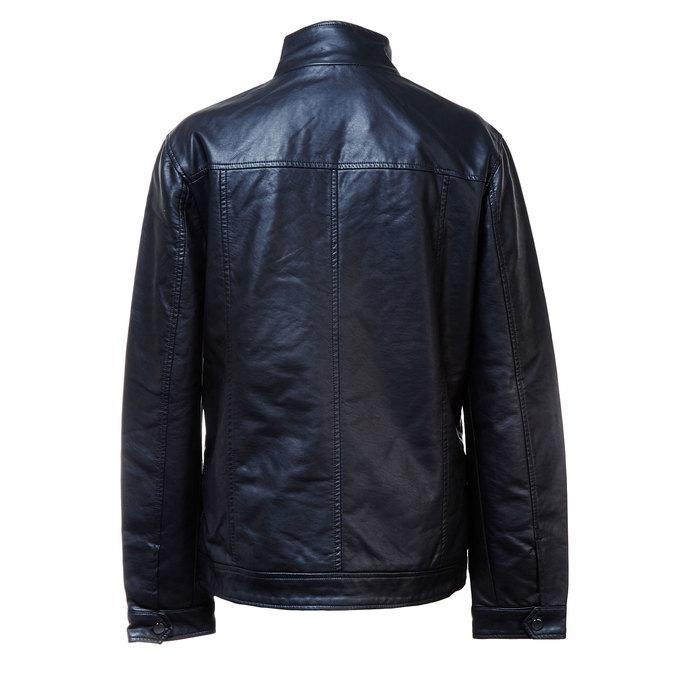 Pánska bunda s náprsnými vreckami bata, čierna, 971-6169 - 26