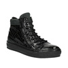 Kožené členkové tenisky so zipsami bata, čierna, 546-6600 - 13