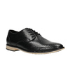 Pánske kožené poltopánky s ležérnou podrážkou bata, čierna, 824-6728 - 13