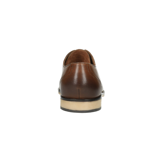 Ležérne kožené poltopánky hnedé bata, hnedá, 826-3653 - 17