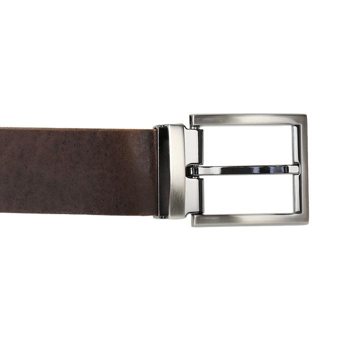 Hnedý kožený opasok bata, hnedá, 954-4129 - 26