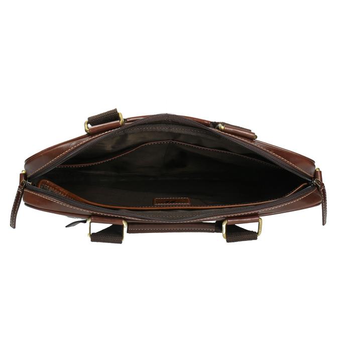 Pánska kožená brašna bata, hnedá, 964-4204 - 15