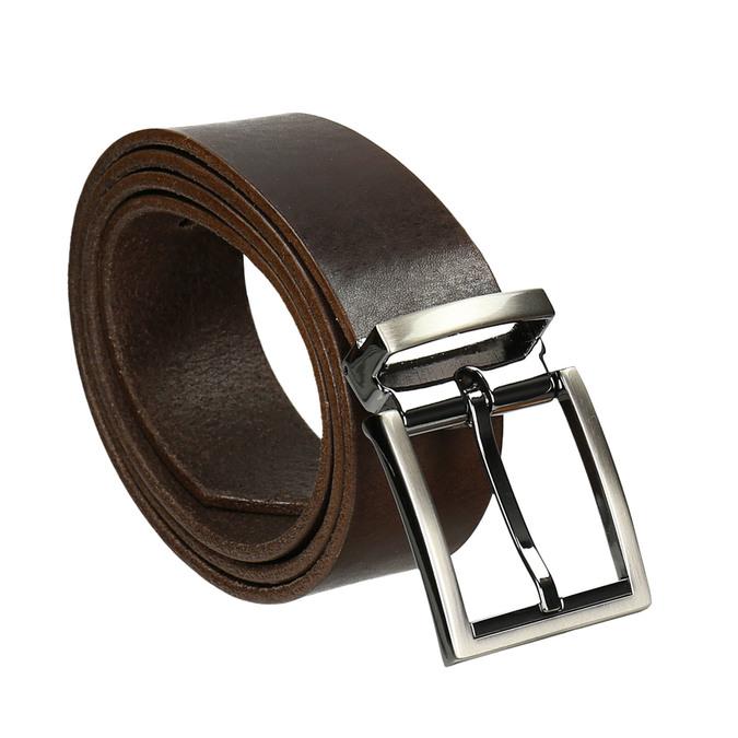 Hnedý kožený opasok bata, hnedá, 954-4129 - 13