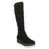 Dámske čižmy na flatforme bata, čierna, 699-6600 - 13
