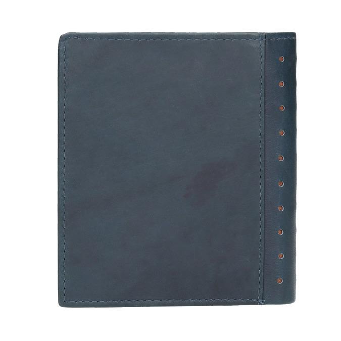 Kožená peňaženka s perforáciou bata, modrá, 944-9175 - 19
