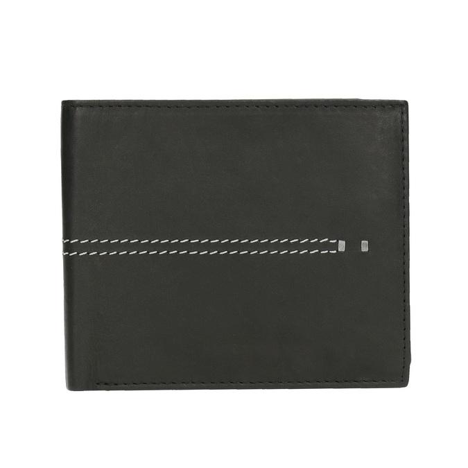 Pánska peňaženka s prešívaním bata, čierna, 944-6176 - 26