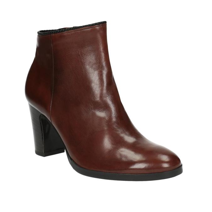 Dámska členková obuv na podpätku gabor, hnedá, 794-3019 - 13