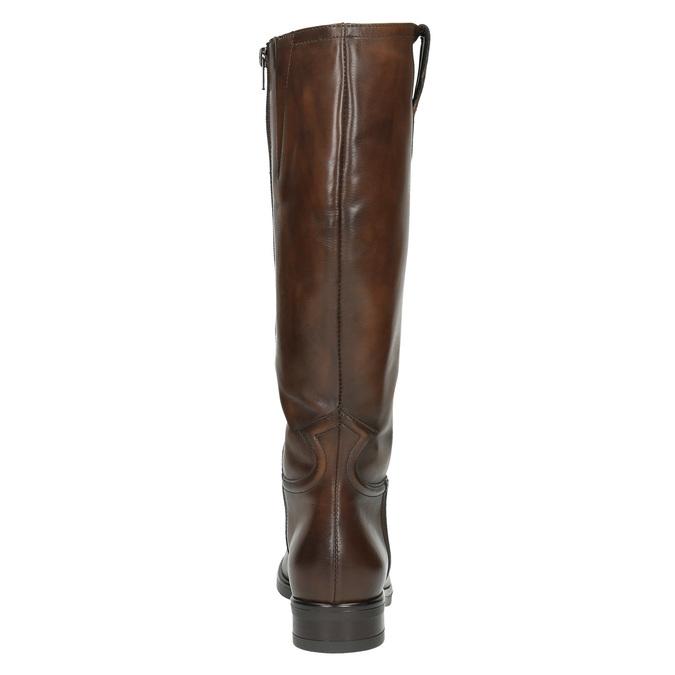 Dámske kožené čižmy bata, hnedá, 596-3608 - 17