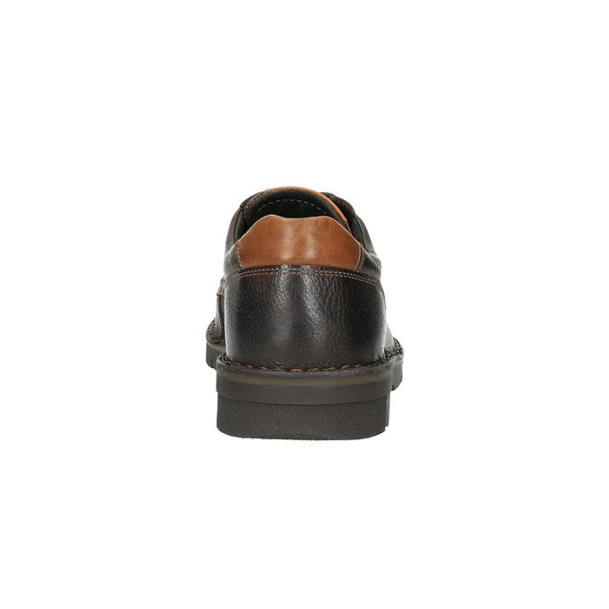 Kožené ležérne poltopánky na výraznej podrážke bata, hnedá, 824-4696 - 17