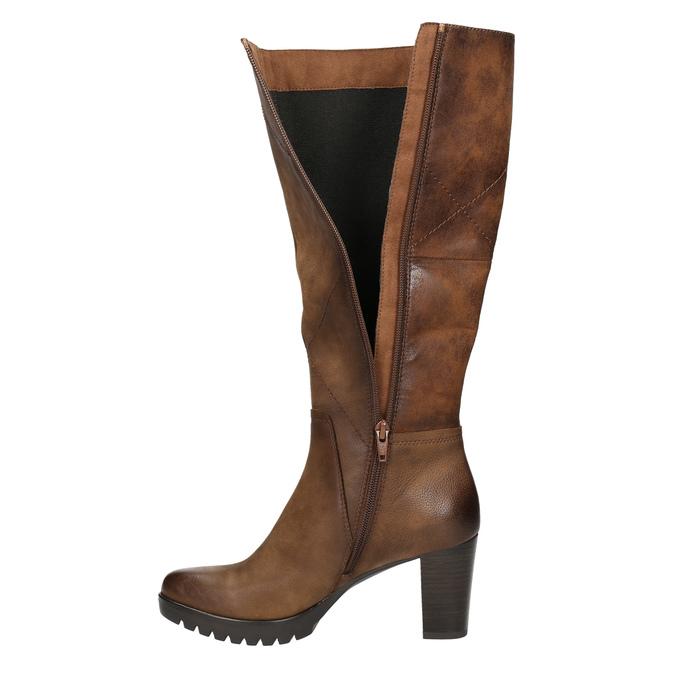 Dámske čižmy bata, hnedá, 796-4601 - 26