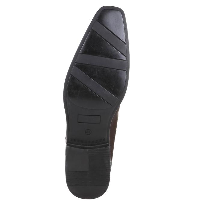 Ležérne kožené poltopánky na výraznej podrážke bata, hnedá, 824-4698 - 18