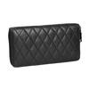 Dámska kožená peňaženka s prešívaním bata, čierna, 944-6164 - 13