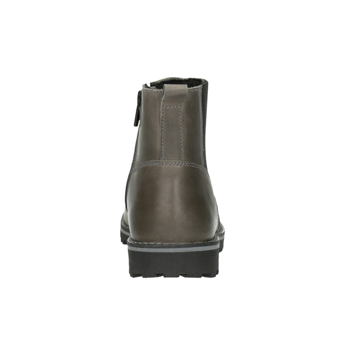 Detská kožená členková obuv mini-b, hnedá, 394-2316 - 17