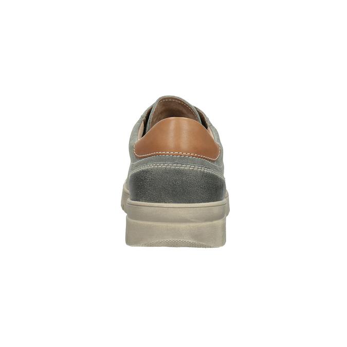 Pánske kožené tenisky weinbrenner, šedá, 843-2620 - 17