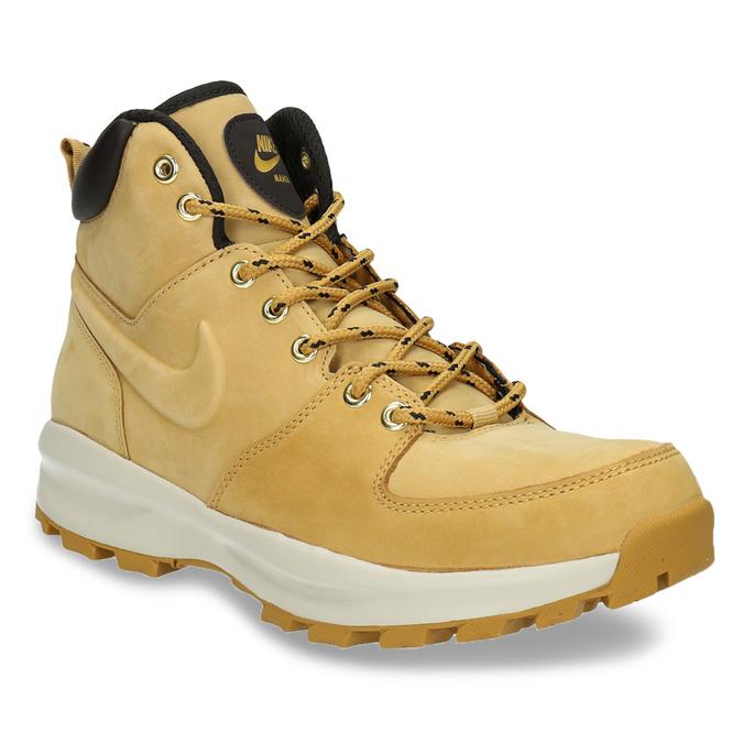 Kožená pánska členková obuv nike, hnedá, 806-8435 - 13