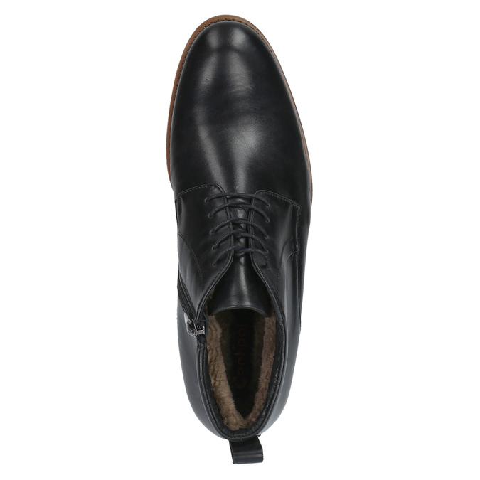Kožená členková obuv so zateplením conhpol, čierna, 894-6679 - 19