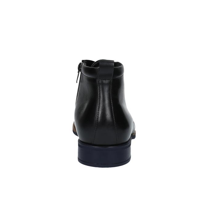Kožená členková obuv so zateplením conhpol, čierna, 894-6679 - 17