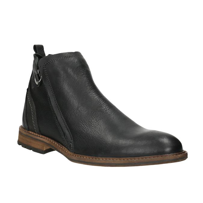 Kožená členková obuv pánska bata, čierna, 894-6660 - 13