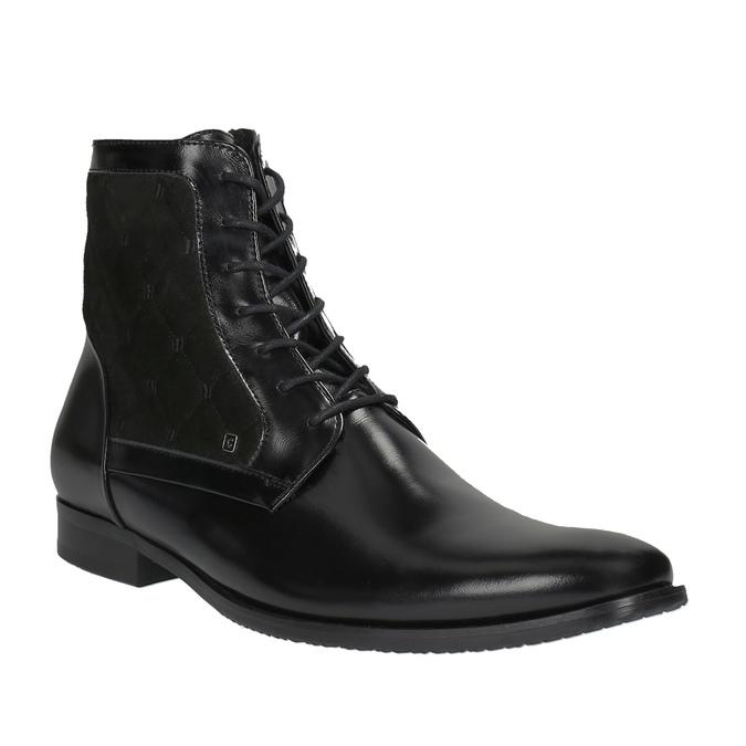 Kožená členková obuv so zateplením conhpol, čierna, 894-6677 - 13