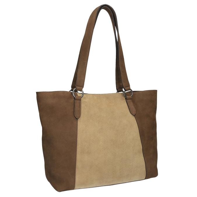 Dámska kožená kabelka bata, hnedá, 966-8200 - 13