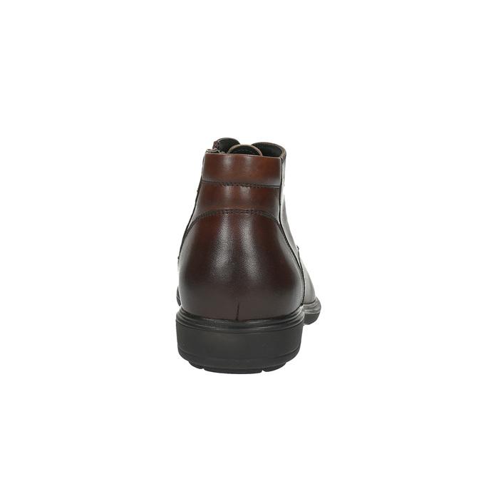 Kožená pánska obuv ku členkom bata, hnedá, 894-4671 - 17