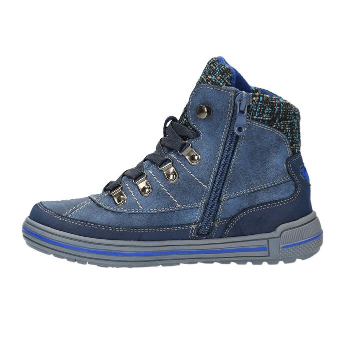 Detská členková obuv so zateplením mini-b, modrá, 491-9651 - 26