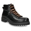 Kožená obuv s originálnym šnurovaním bata, čierna, 894-6180 - 13