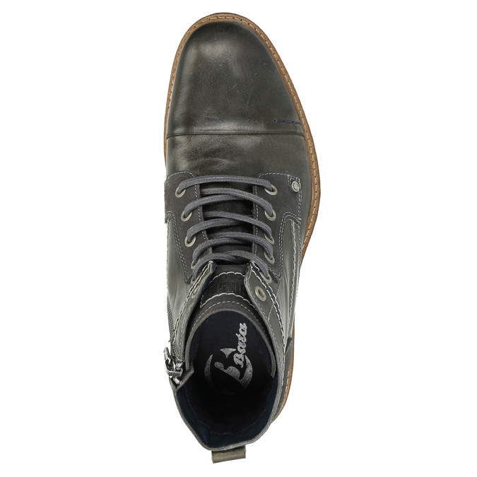 Pánska kožená obuv členková bata, šedá, 894-2621 - 19