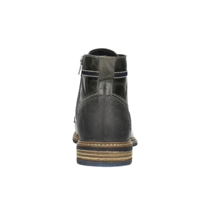 Pánska kožená obuv členková bata, šedá, 894-2621 - 17