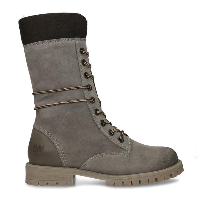 Dámska zimná obuv šnurovacia weinbrenner, šedá, 593-2476 - 19