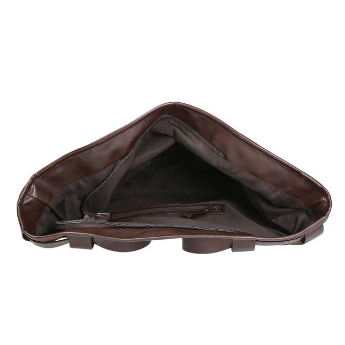 Kabelka v štýle Tote Bag bata, hnedá, 961-3206 - 15