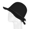 Dámsky klobúk s prešitím bata, čierna, 909-6294 - 26