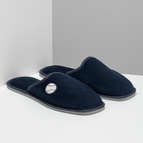 Pánska domáca obuv bata, modrá, 879-9609 - 26