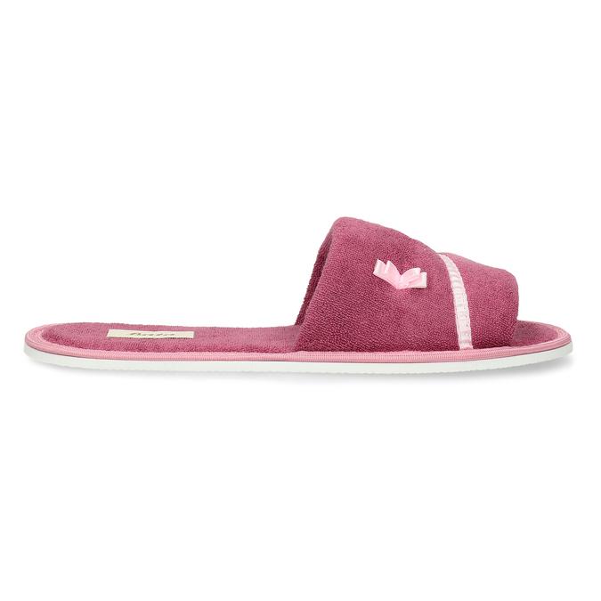 Dámske papuče s mašličkou bata, ružová, 579-5609 - 19