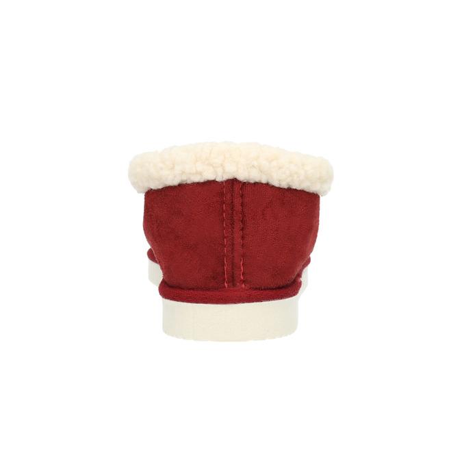 Domáce papuče s umelým kožúškom bata, červená, 579-5612 - 17