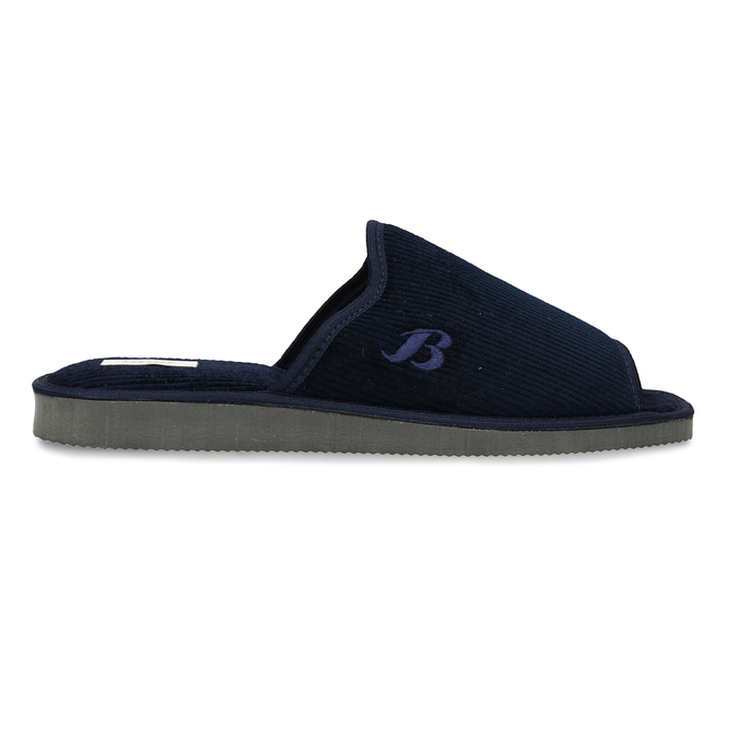 Pánska domáca obuv bata, modrá, 879-9609 - 19