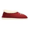 Domáce papuče s umelým kožúškom bata, červená, 579-5612 - 15