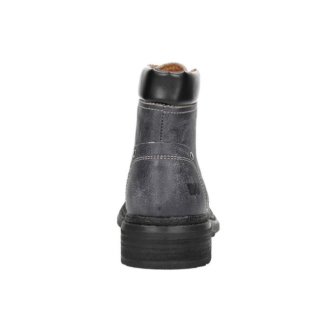 Dámska kožená členková obuv weinbrenner, šedá, 596-6632 - 17