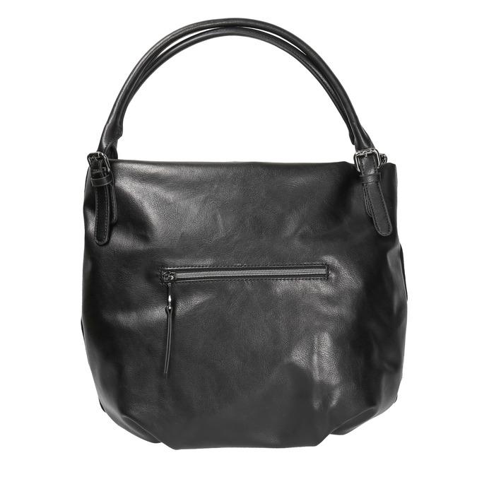 Dámska kabelka s kovovými cvokmi bata, čierna, 961-6256 - 19