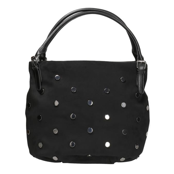 Dámska kabelka s kovovými cvokmi bata, čierna, 961-6256 - 26