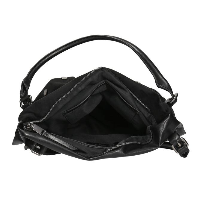 Dámska kabelka s kovovými cvokmi bata, čierna, 961-6256 - 15